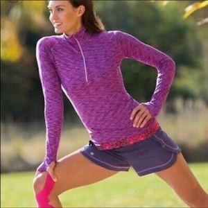 Athleta Mendoza Running Pullover Jacket; space dye